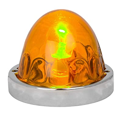 Grand General 79761 Light Amber Glass Flush Mount Light Kit-1 Wire, 1 Pack: Automotive