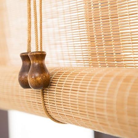 Persiana de bambú Rodillo Exterior/Interior De Sombra De Las Persianas, Enrollar Sombra para Patio Al Aire Libre Porche Pergola Gazebo Balcón, 85cm / 105cm / 125cm / 145cm Ancho (Size : 105×220cm):