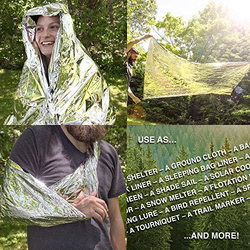 Grizzly Gear Emergency Thermal Blanket, 7 Feet x 4 1/3 Feet