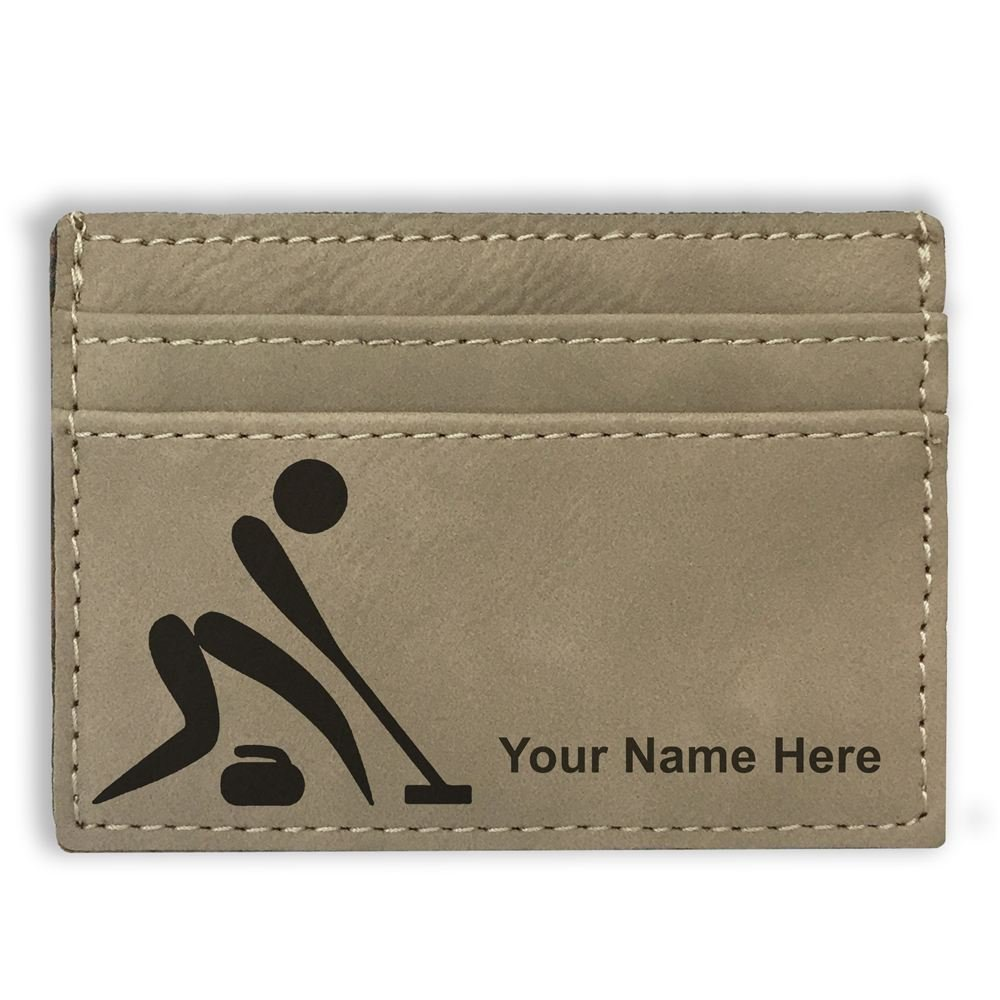Curling Figure Light Brown Money Clip Wallet Personalized Engraving Included