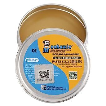 Akozon Pasta de Soldadura MCN-UV50, Pasta Soldar facilitar la soldadura y estañado de