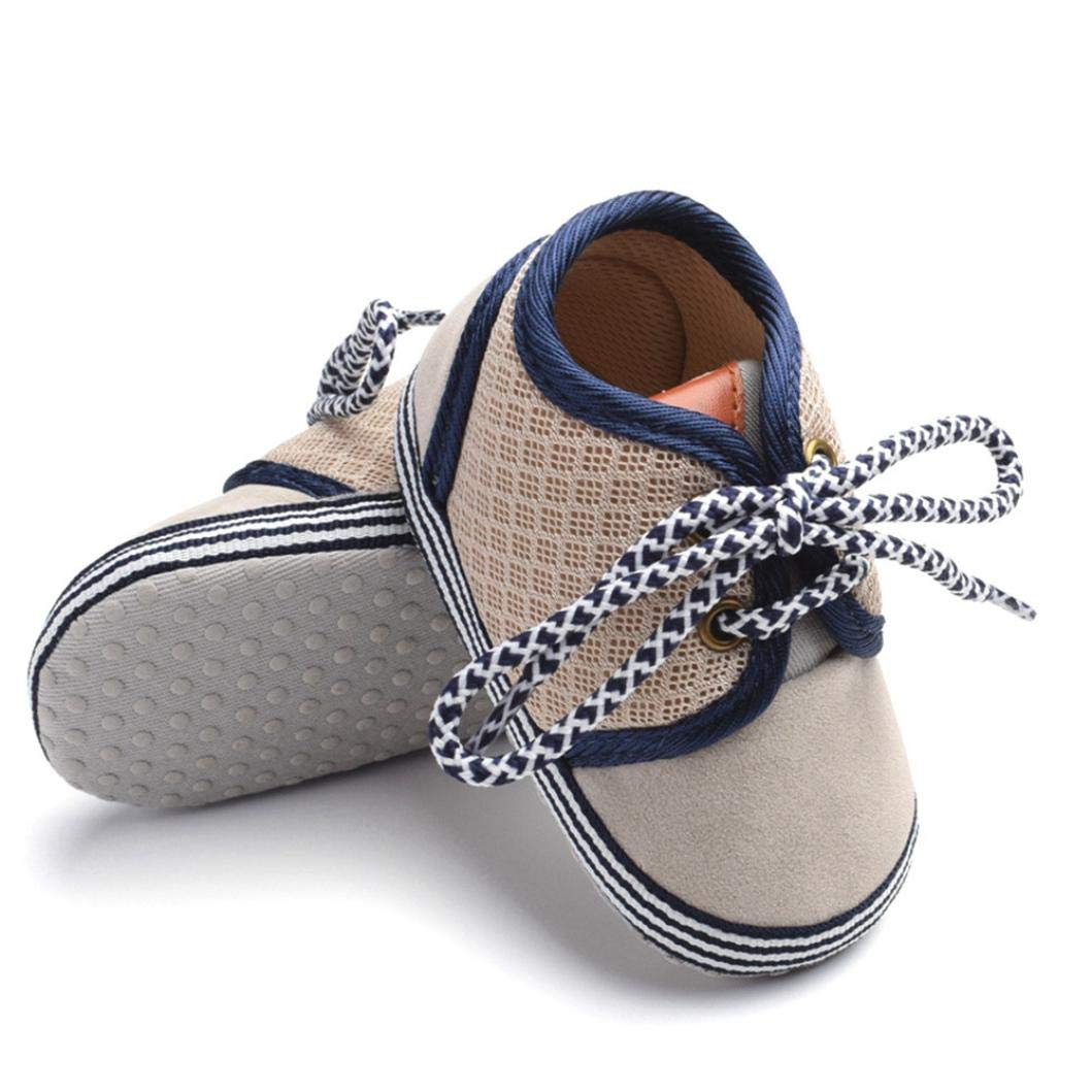 ASHOP Ni/ña Ni/ño Casuales Zapatillas del Oto/ño Invierno Suela Deporte Antideslizante del Zapatos con Cordones 0-18 Meses Zapatos de beb/é