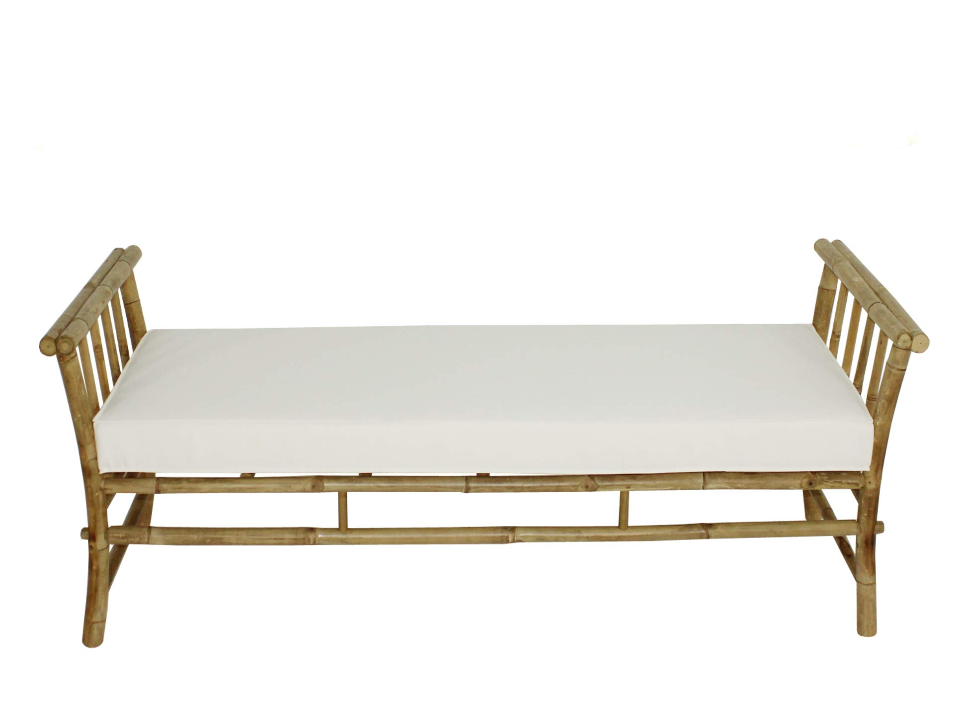 Statra L316N03 Bamboo Bench Sofa Siesta Daybed Lounger, 26'' H x 22'' W x 63'' D, Natural by Statra