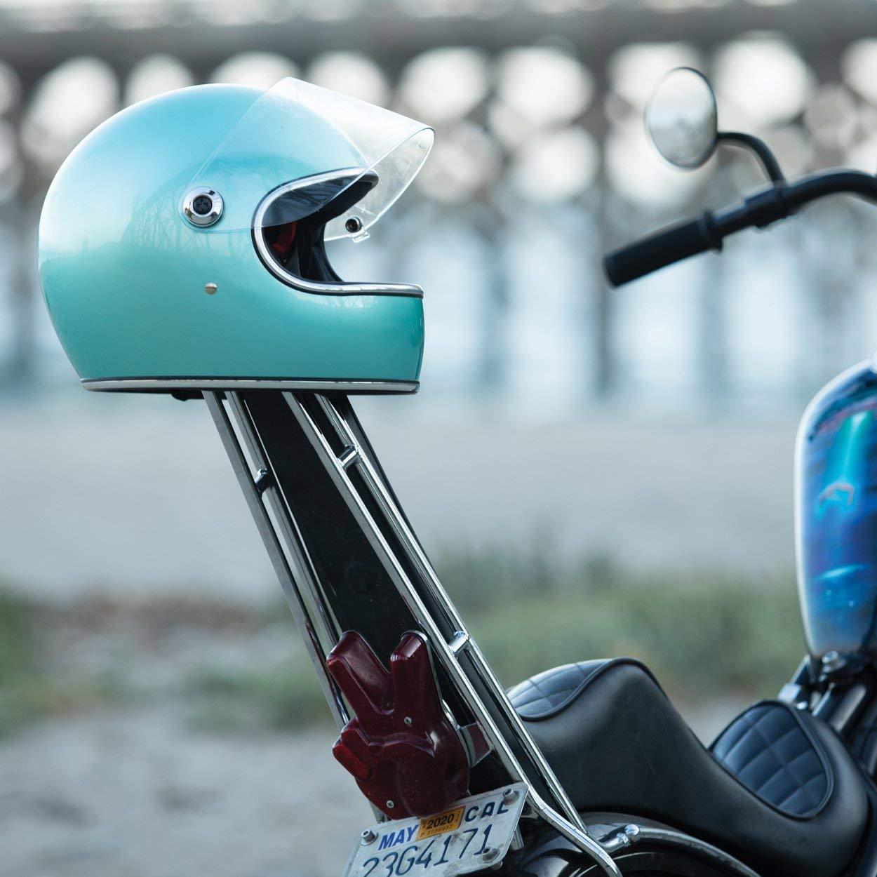 America Europa Helmet Biker Custom Vintage Retro A/ño 70 Talla XS /& Dot Casco Integral Biltwell Gringo S Metallic Sea Foam homologado Doble homologaci/ón ECE