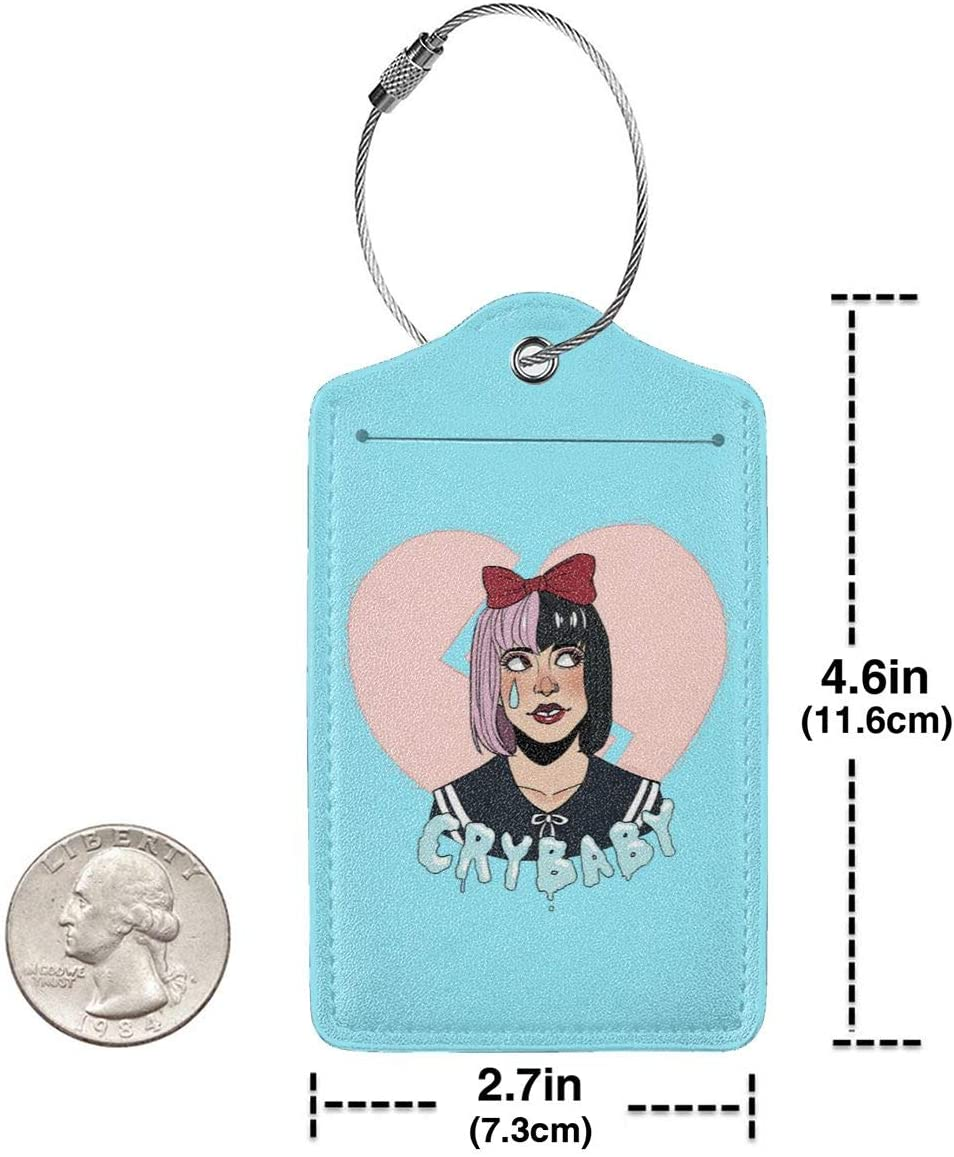 LIKUNMING Melanie Martinez Travel Luggage Tags Travel Suitcase Bag Labels Checked Baggage Tags