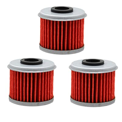 AHL 116 Oil Filter for Honda CRF450R CRF450 R 444 2002-2012 (Pack of 3): Automotive