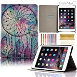 iPad Air 2 Case,LittleMax(TM) Ultra Thin Smart Case with Auto Wake/Sleep Magnetic Flip Cover with [Card Holder] for iPad Air 2 9.7 Inch [Free Cleaning Cloth,Stylus Pen]-#3 Bright Dream Catcher