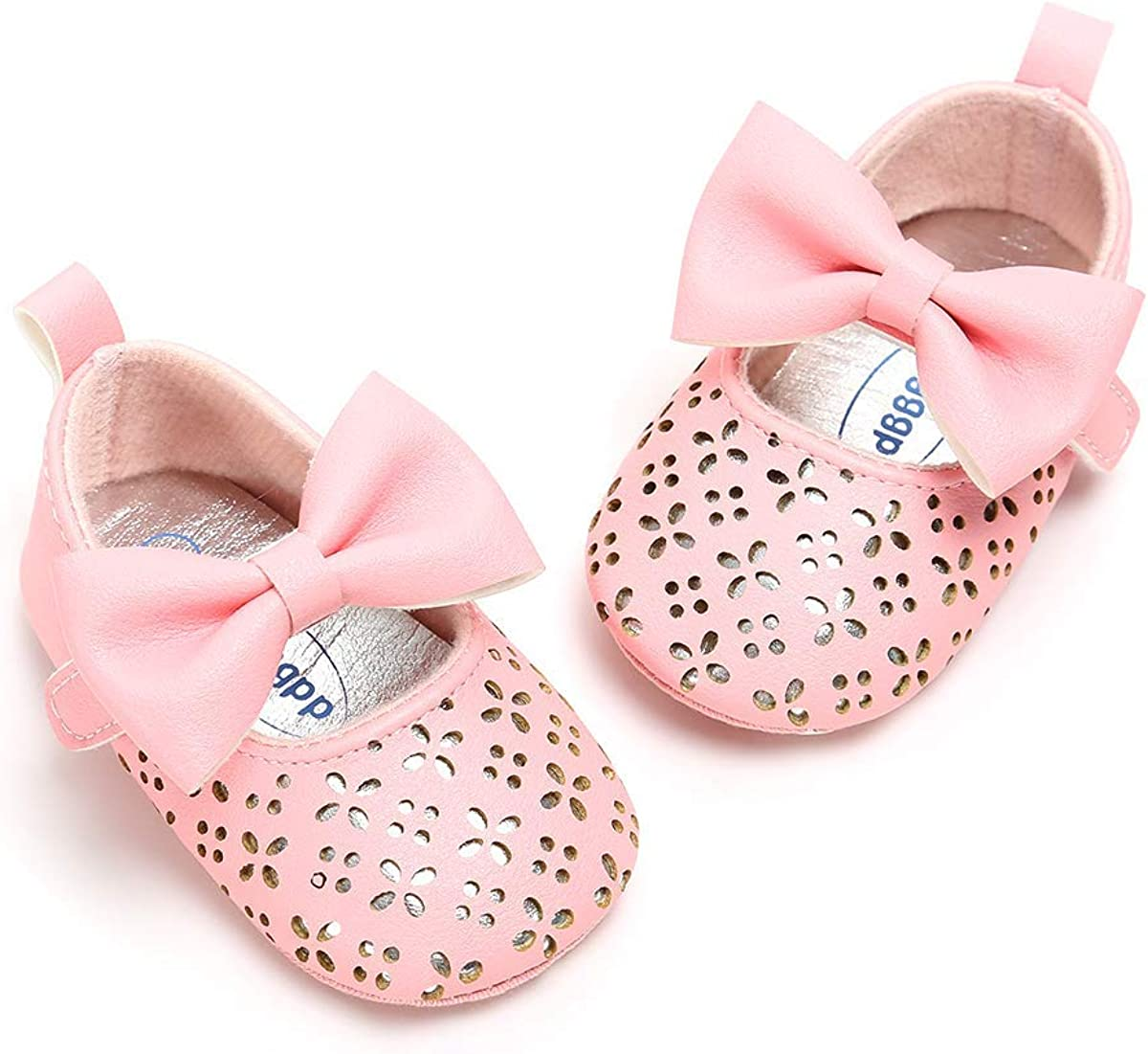 Dzień dobry Toddler Hollow-Out Flower /& Bowknot Design Cute Princess Shoes Soft Anti-Slip Baby Sneakers