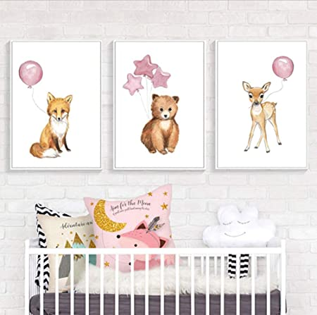 SCLPOSTER Cartel Arte Moda bebé Dormitorio Animal Cartel e ...