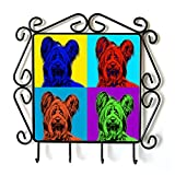 Skye Terrier, clothes hanger with an image of a dog, Andy Warhol Style