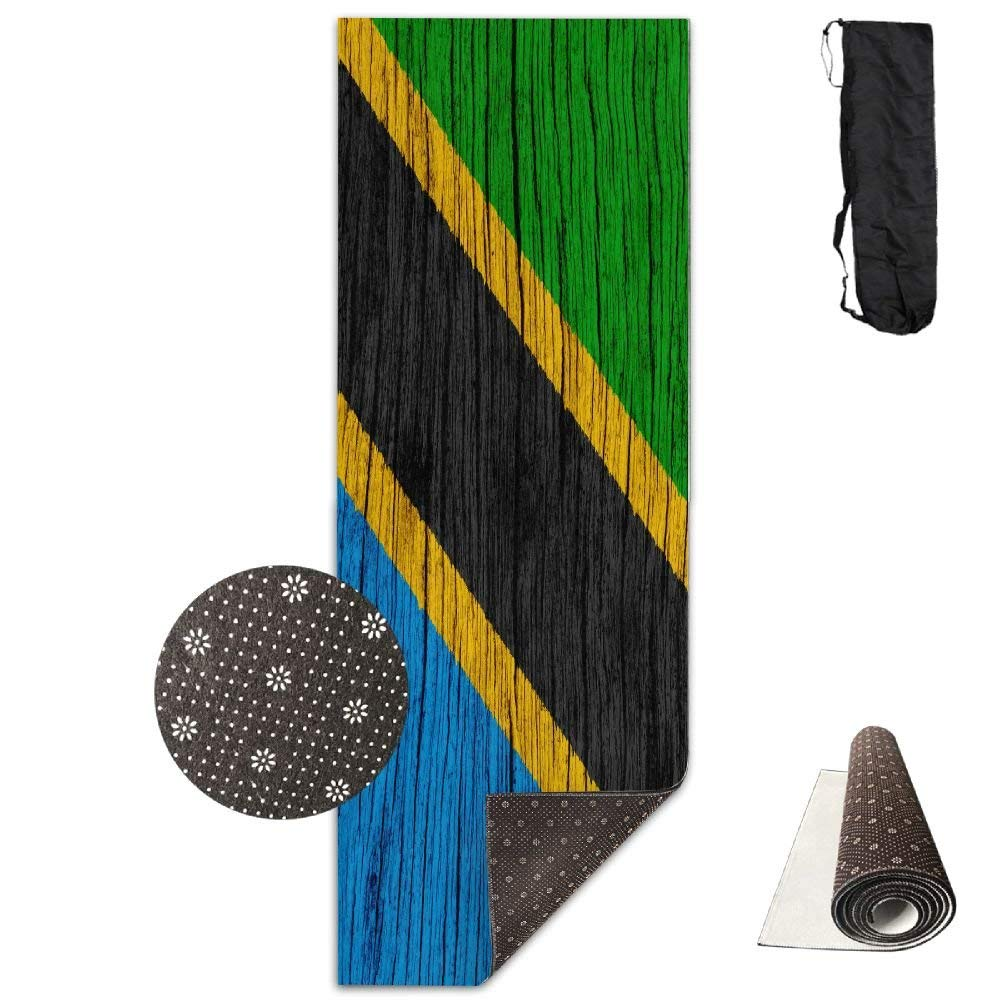 Tanzania Wooden Texture Tanzanian Flag ECO Aqua Power Kinematic Iyengar Kundini Hot Pilates Gymnastics Hatha Yoga Mat Exercise Mat