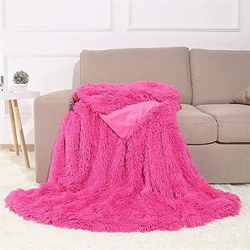 Bon Liveinu Reversible Faux Fur U0026 Fleece Flannel Throw Blanket Fleece Bed Throws  Warm Microfiber Solid Blankets