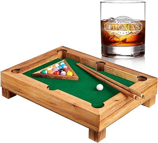 AMAVEL – Mini – Juego de Mesa de Billar de Acero Madera – Whisky ...