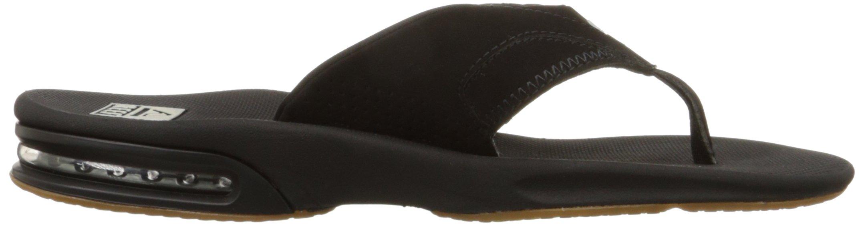 Reef Fanning Mens Sandals Bottle Opener Flip Flops for Men,Black/Silver,12 M US by Reef (Image #11)