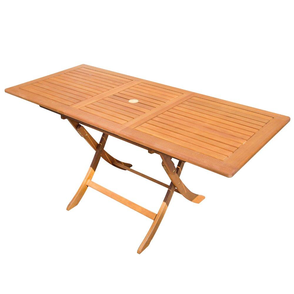 Cosma Tavolo allungabile pieghevole in legno di balau arredamento ...