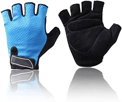 Outdoor Sports Cycling Half Finger Padded Fingerless Soft Glove