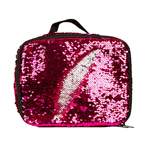 Style.Lab by Fashion Angels Magic Sequin Lunch Tote - Pink/Silver