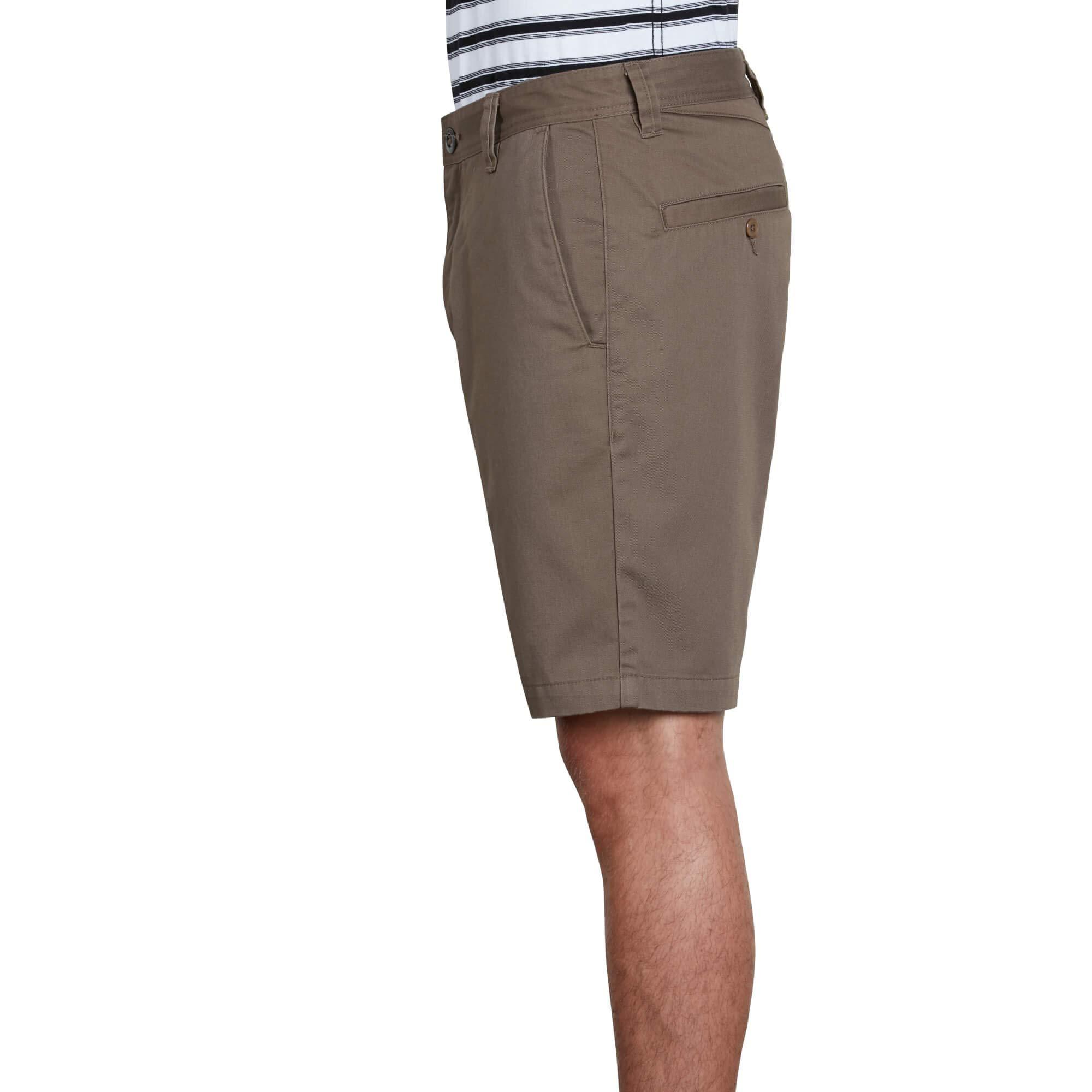 Volcom Men's Frickin Drifter 20'' Chino Walk Short, Mushroom, 32