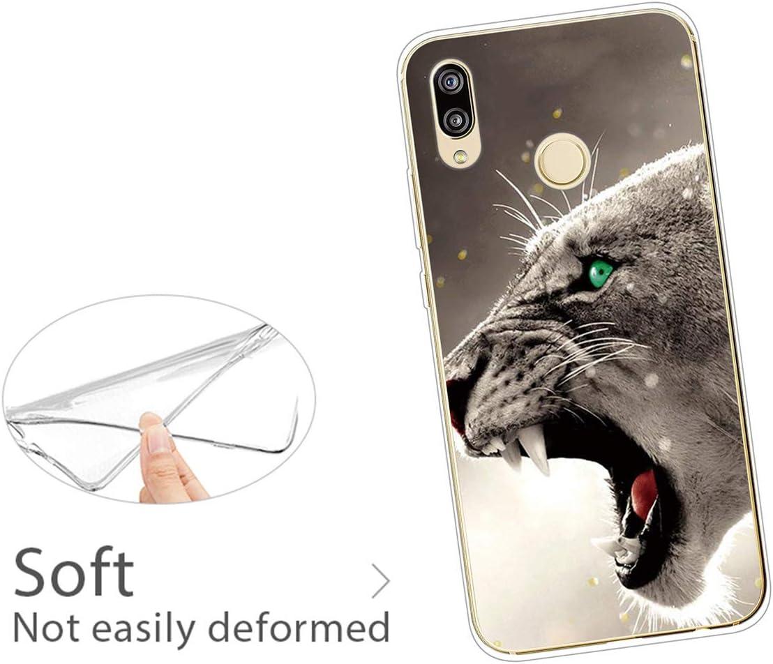 SEEYA H/ülle f/ür Huawei P20 Lite Silikon Transparent mit Druck Motiv f/ür Huawei P20 Lite Handyh/ülle Durchsichtig D/ünn Silikoncase X-ray Finger Muster Schutzh/ülle Sto/ßd/ämmend Cover Case
