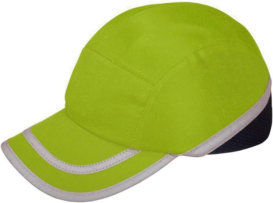 Viwanda - Gorra de Protección ABS con Alta Visibilidad Hi Vis Modelo Deportivo Amarilla para Trabajo
