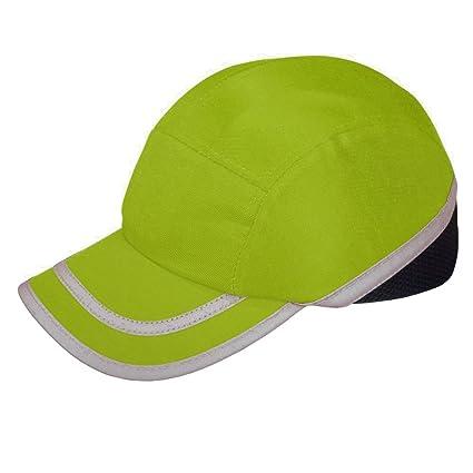 Viwanda - Gorra de Protección ABS con Alta Visibilidad Hi Vis Modelo  Deportivo Amarilla para Trabajo c8a02b34cc8