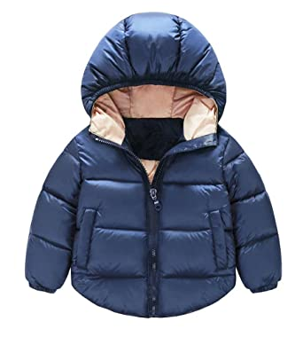 214e47fee Amazon.com: JINTING Toddler Baby Boys Girls Outerwear Hooded Coats Winter  Jacket Kids Clothes: Clothing