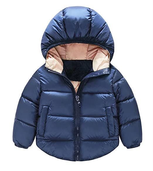 90bf9236b4a JINTING Toddler Baby Boys Girls Outerwear Hooded Coats Winter Jacket Kids  Clothes