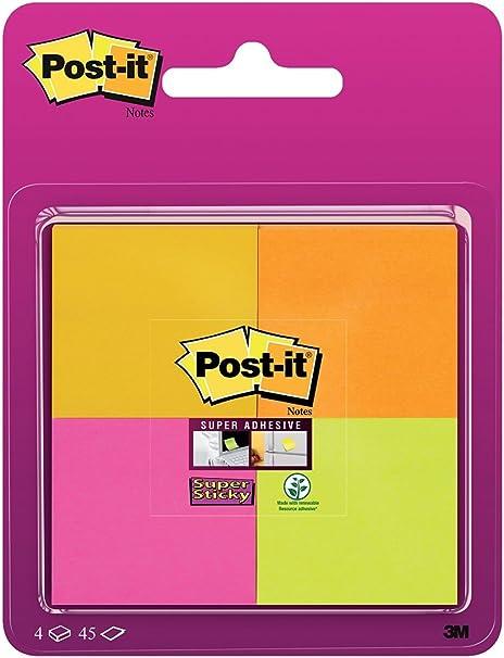 Post-It 6910SSS-YPOG-EU - Pack de 4 blocs de notas adhesivas, 47.6 ...