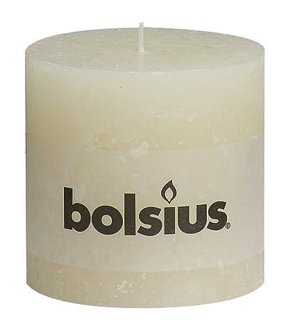 6 Bolsius Rustik Stumpen Kerzen 100x100 mm gelb Bolsius Rustic Kerzen