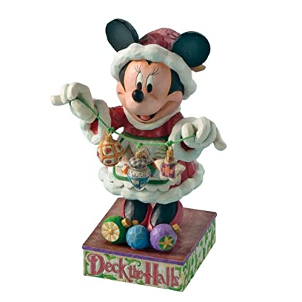 jim shore disney traditions minnies christmas cheer figurine by enesco 4005625