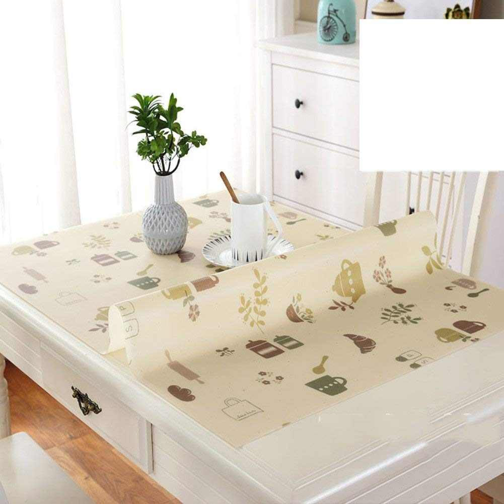 Shuangdeng 防水ポリ塩化ビニールのテーブルクロス、台所ダイニング居間のコーヒーテーブルおよび机のためのテーブルカバーの使い捨て可能なoilesistant (Color : N, サイズ : 80x140cm(31x55inch))   B07S869YHK