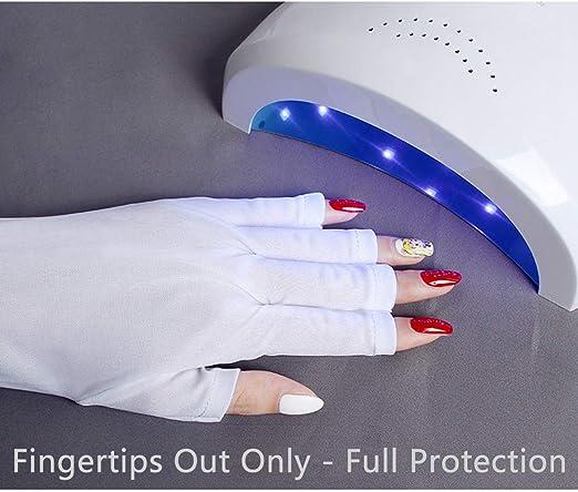 3 Paires Gant de Protection UV Gant de Manucure en Gel Gants Anti UV sans Doigts Prot/égez Vos Mains des Lampe /à Rayons UV S/échoir /à Manucure