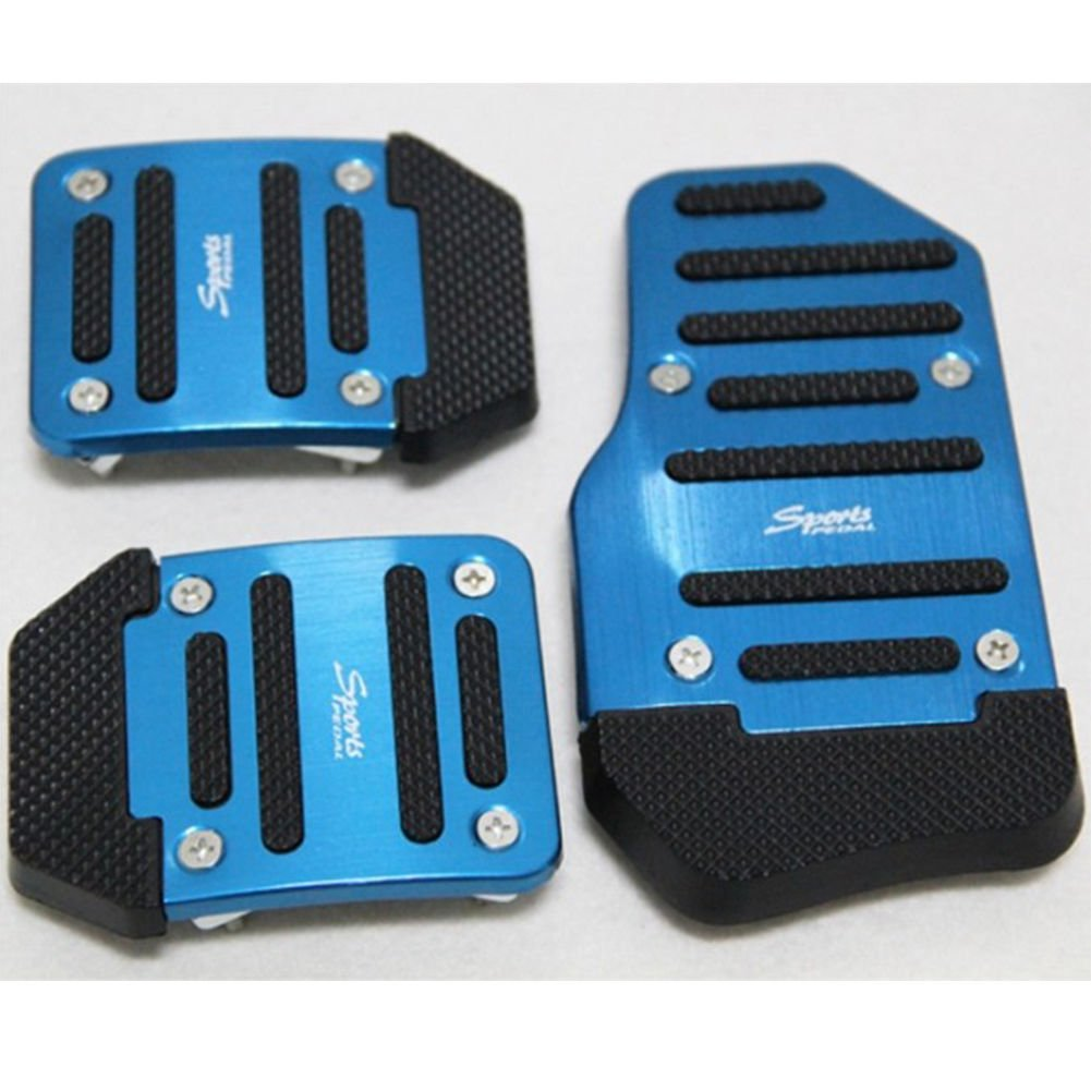 3x Car Non-slip Accelerator Pedal Foot Pedals Pad Cover Safety For Brake Clutch