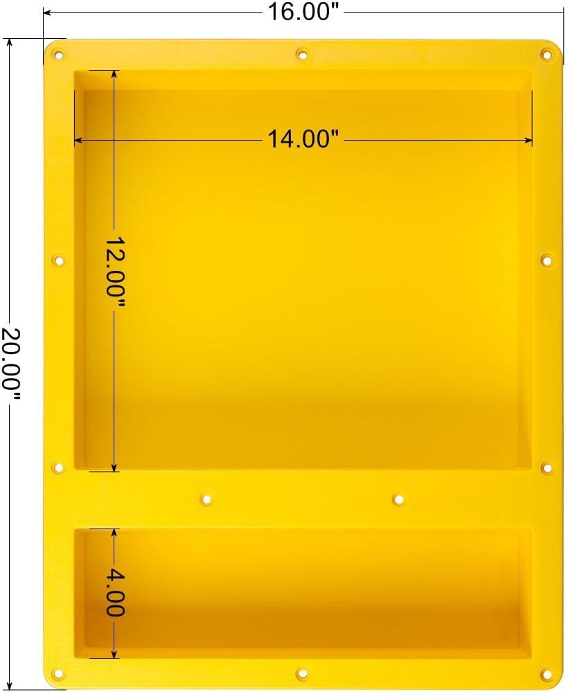 Uni-Green Shower Niche 16 20 4 1620-02 Double shelf