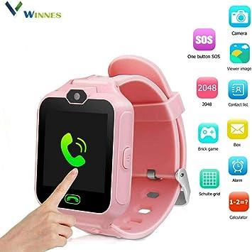 Winnes - Smartwatch para niños, Reloj móvil para Juegos, Pantalla ...