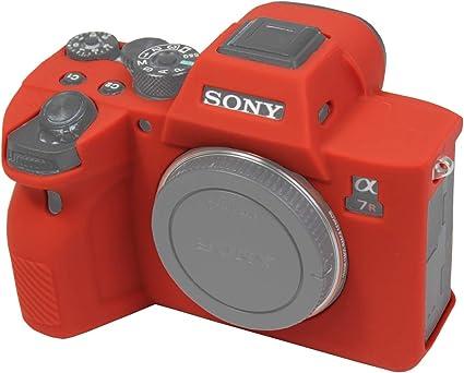 Easy Hood Schutzhülle Für Sony Alpha 7r Iv A7r Iv A7riv A7rm4 Ilce 7rm4 Digitalkamera Kratzfest Weiches Silikongummi Schutzhülle Rot Elektronik