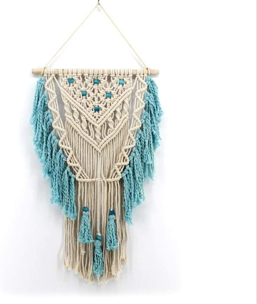 YIZUNNU Tapestry Macrame Wall Hanging Hand Woven Pendant Home Decoration,17.7x30 Inch