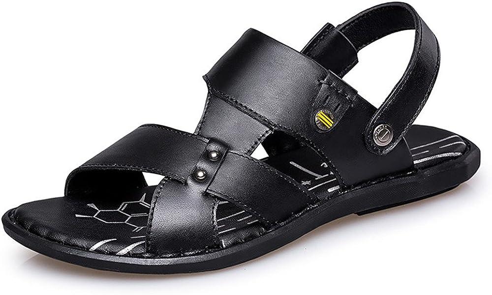 Muyin Mens Flat Heel Slip On Strap Sandals