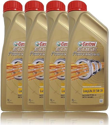 Castrol Edge Professional 5w 30 Longlife Iii 4 X 1 Liter Auto