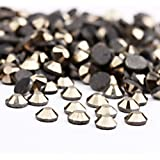 Beadsland Crystal Hotfix Rhinestone,Machine Cut Stone 1440pcs/pkg (Hematite,SS10/3mm)