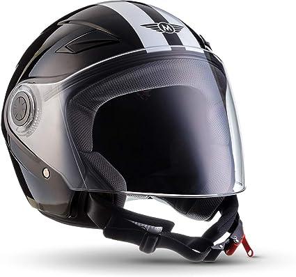 Amazon.es: MOTO U52 - Racing black - Casco Moto Demi-Jet con ...