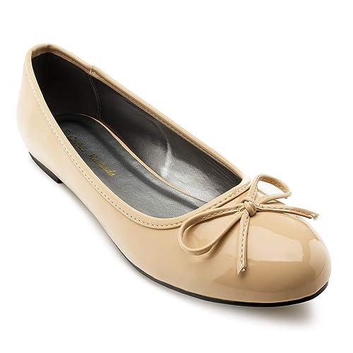 Damen Damen Gold Empfehlen Andres Machado Ballerinas Bequeme