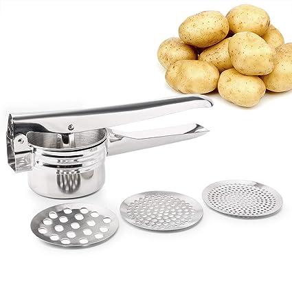 FUKTSYSM - Rallador de patatas de acero inoxidable, multifuncional, profesional, resistente prensa de