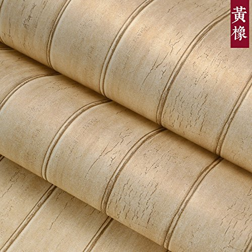 Jedfild Chinese Antique so old wood-grain non-woven cloth wallpaper to the living room TV wall to wall paper Mediterranean bedroom wallpaper, Huang Oak color - Woodgrain Background Stamp