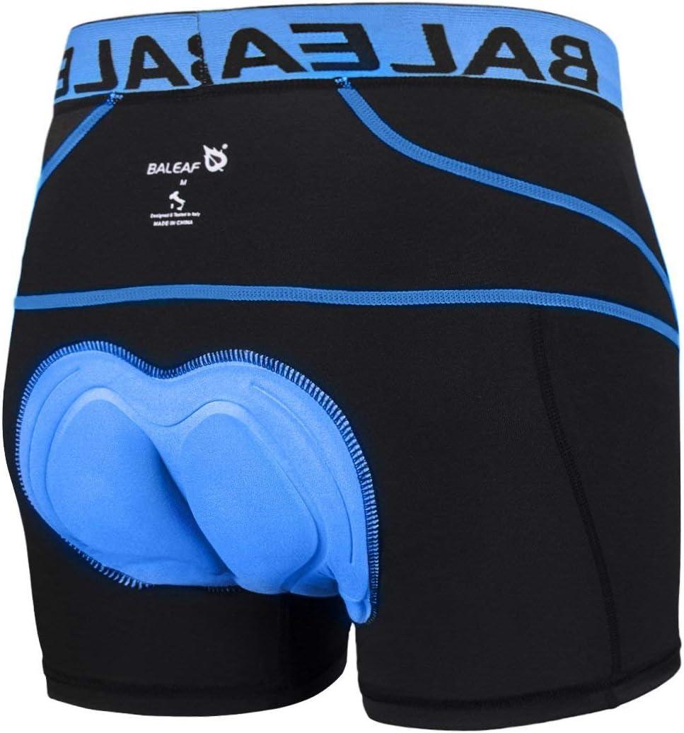 Baleaf Men/'s 3D Padded Cycling Underwear Shorts Black Large