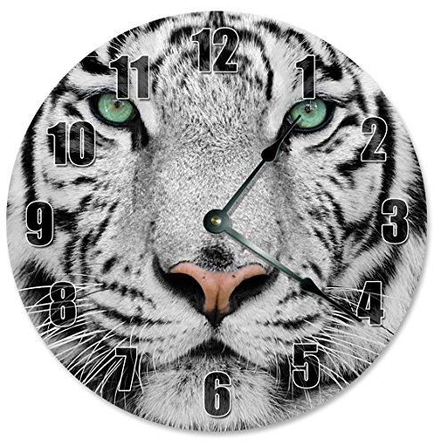 WHITE TIGER Clock - Large 10.5