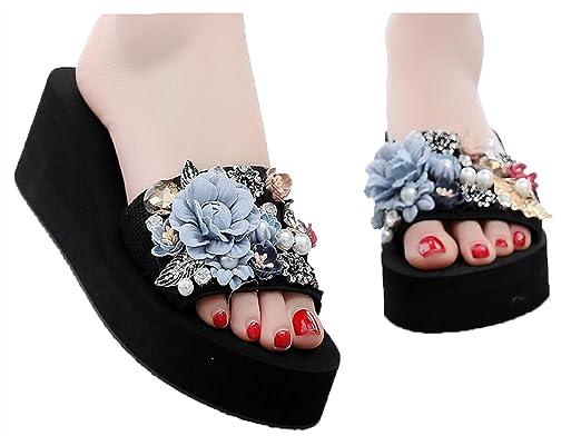 3a6a08ed08416 Amazon.com: Fainosmny Beach Slippers Platform Slipper for Women ...
