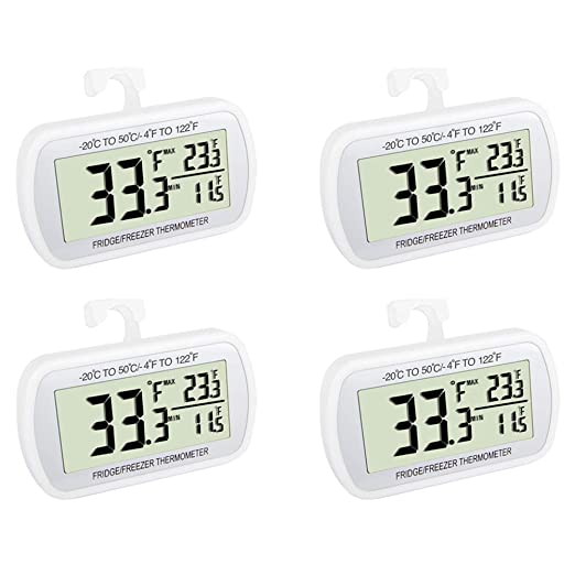 Termómetro para nevera resistente al agua, termómetro digital para ...