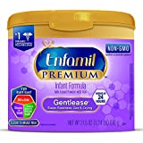 Enfamil PREMIUM Non-GMO Gentlease Infant Formula - Clinically Proven to reduce fussiness, gas, crying in 24 hours - Reusable Powder Tub, 21.5 oz