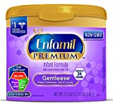 Enfamil PREMIUM Non-GMO Gentlease Infant Formula, Powder, 21.5 Ounce Reusable Tub, Pack of 4